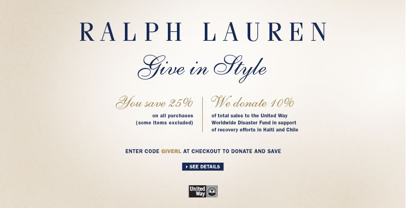 RALPH LAUREN COUPON 2019