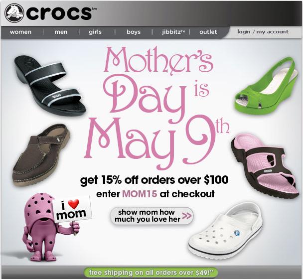 Crocs discount coupon